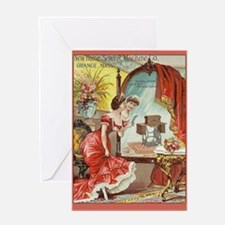 Vintage Sewing Machine Print Greeting Card