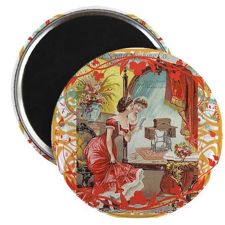 """Vintage Sewing Machine Print 2.25"""" Magnet (100 pac"""