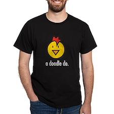 a doodle doo black T-Shirt