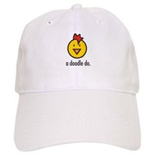 a doodle doo white Baseball Cap