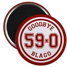 Goodbye Blago Circle Magnet