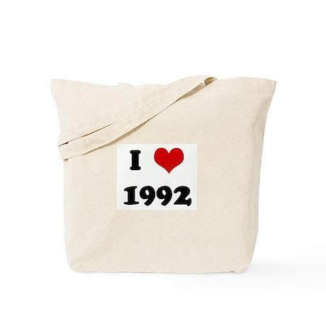 I Love 1992 Tote Bag