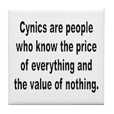 Cynical Cynics Tile Coaster