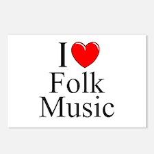 """I Love (Heart) Folk Music"" Postcards (Package of"