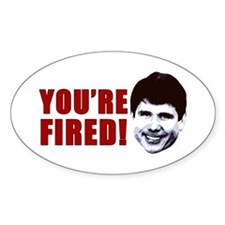Blago You're Fired Oval Decal