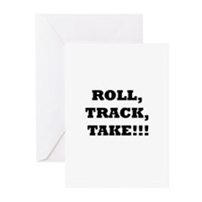 Roll,Track,Take! Greeting Cards (Pk of 20)