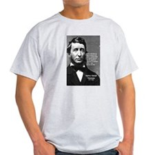 Philosophy / Nature: Thoreau Ash Grey T-Shirt