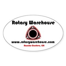 Rotary Oval Bumper Stickers