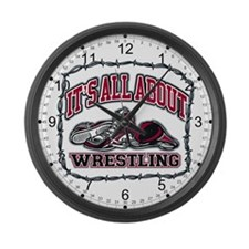 It's All About Wrestling Large Wall Clock