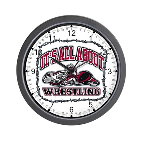 It's All About Wrestling Wall Clock