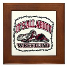 It's All About Wrestling Framed Tile