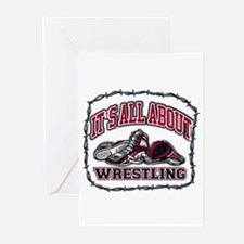 It's All About Wrestling Greeting Cards (Pk of 20)
