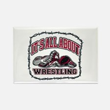 It's All About Wrestlin Rectangle Magnet (10 pack)