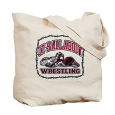 All About Wrestling Tote Bag