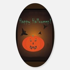 Halloween Oval Decal