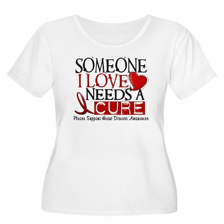 Needs A Cure Heart Disease Shirt Women's Plus Size