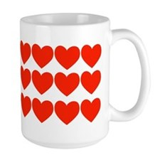 Rows of Red Hearts Mug