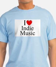 """I Love (Heart) Indie Music"" T-Shirt"