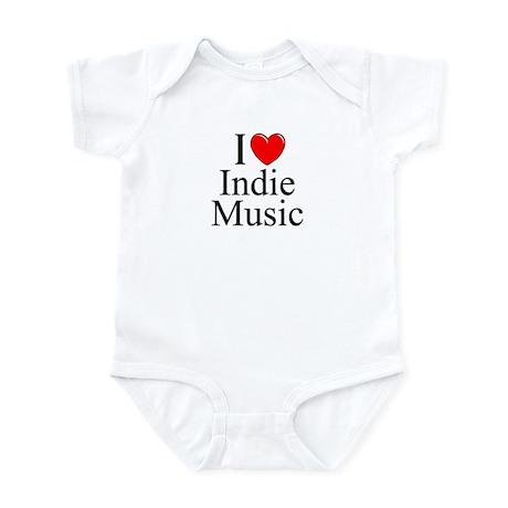 """I Love (Heart) Indie Music"" Infant Bodysuit"