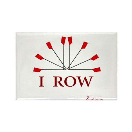 I ROW Rectangle Magnet