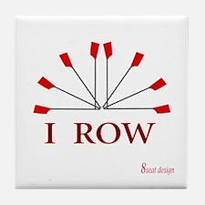 I ROW Tile Coaster