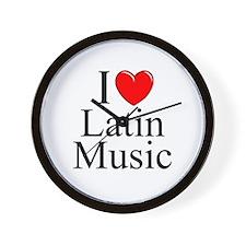 """I Love (Heart) Latin Music"" Wall Clock"