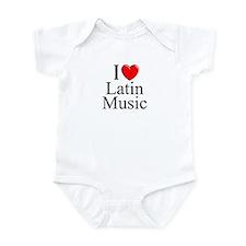 """""""I Love (Heart) Latin Music"""" Infant Bodysuit"""
