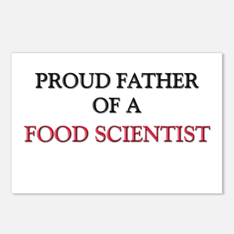 Proud Father Of A FOOD SCIENTIST Postcards (Packag