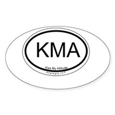 Kiss My Assets Oval Decal