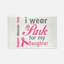 I Wear Pink For My Daughter Rectangle Magnet (10 p