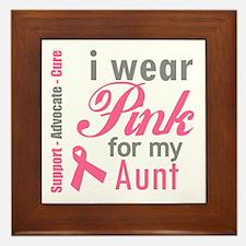 I Wear Pink For My Aunt Framed Tile