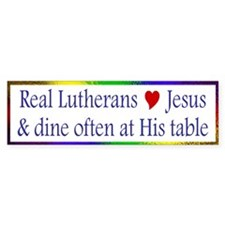 Jesus and the Lord's Table Bumper Bumper Sticker
