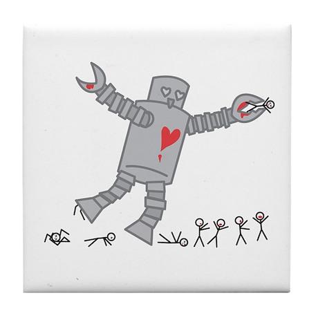 Robot Love Tile Coaster