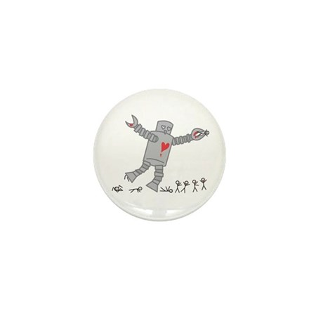 Robot Love Mini Button