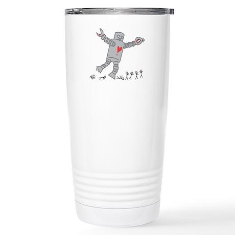 Robot Love Stainless Steel Travel Mug