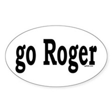 go Roger Oval Decal
