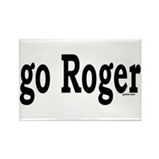 go Roger Rectangle Magnet