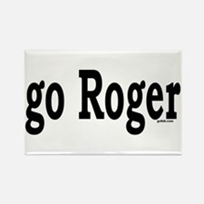 go Roger Rectangle Magnet