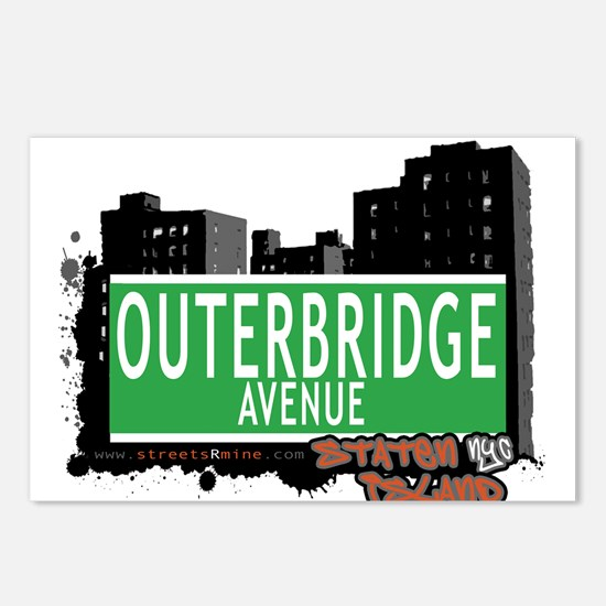 OUTERBRIDGE AVENUE, STATEN ISLAND, NYC Postcards (