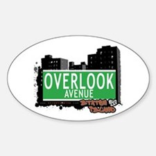 OVERLOOK AVENUE, STATEN ISLAND, NYC Oval Decal
