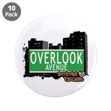 "OVERLOOK AVENUE, STATEN ISLAND, NYC 3.5"" Button (1"