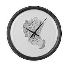 Drawing 2 Large Wall Clock