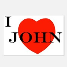 I Love John! Postcards (Package of 8)