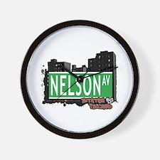 NELSON AVENUE, STATEN ISLAND, NYC Wall Clock