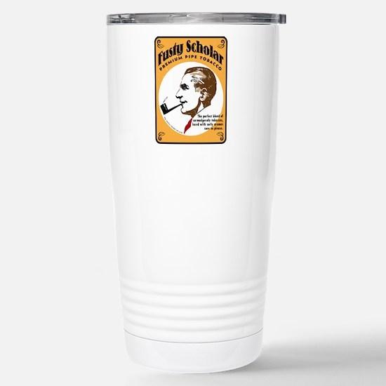 Fusty Scholar Tobacco Stainless Steel Travel Mug