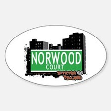 NORWOOD COURT, STATEN ISLAND, NYC Oval Decal