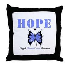 HopeButterfly StomachCancer Throw Pillow