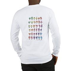 Pastel Fingerspelled ABC Long Sleeve T-Shirt