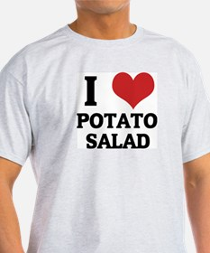 I Love Potato Salad Ash Grey T-Shirt