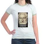 Greek Philosophy: Thales Jr. Ringer T-Shirt